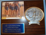 The 1978 championship women's cross-country team at Harbor. This photo hangs in the Hall of Fame in the athletic department. Photo by Salina Garcia
