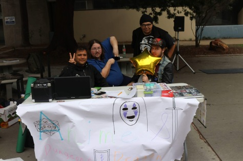 The A20 Club's table at Club Rush.